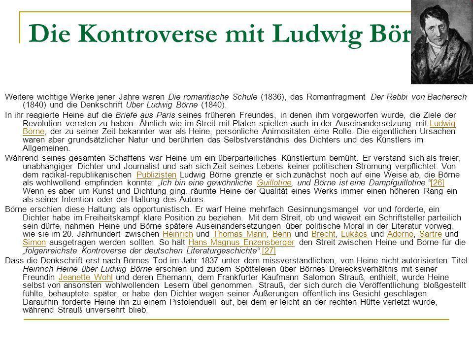 Die Kontroverse mit Ludwig Börne