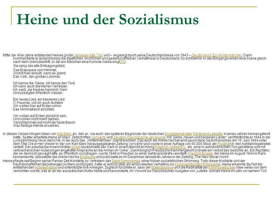 Heine und der Sozialismus