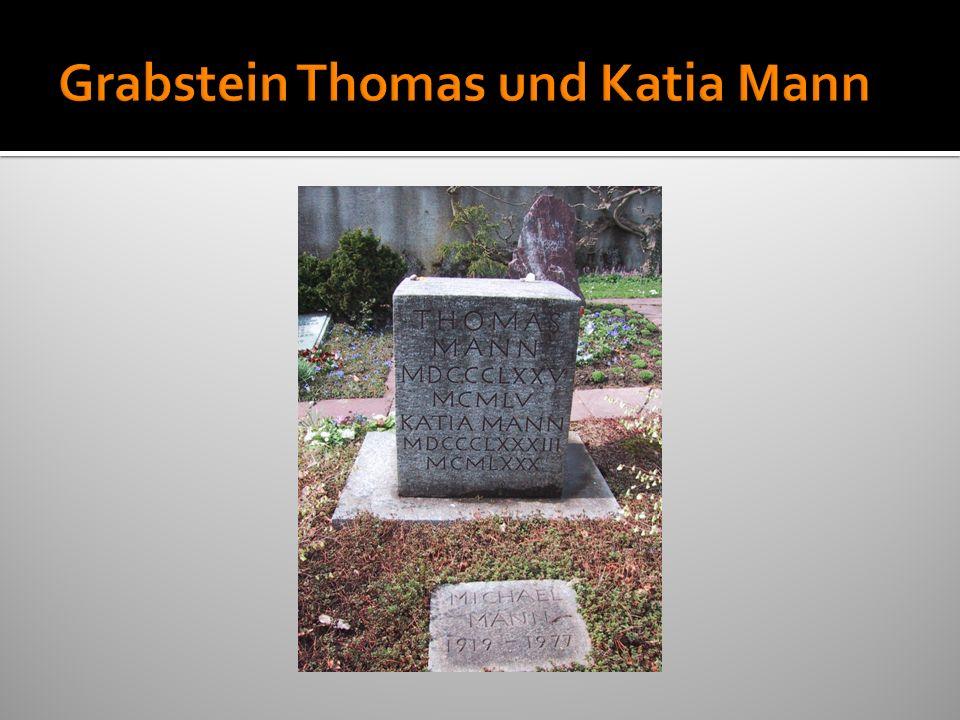 Grabstein Thomas und Katia Mann