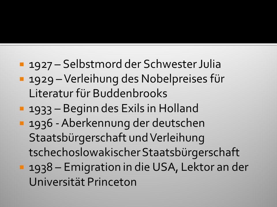 1927 – Selbstmord der Schwester Julia