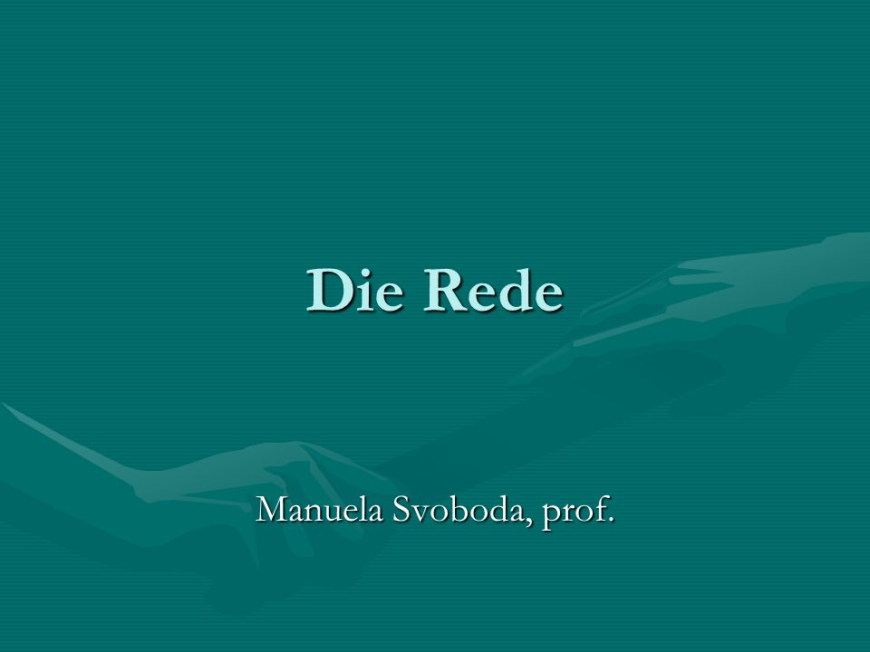 Die Rede Manuela Svoboda, prof.