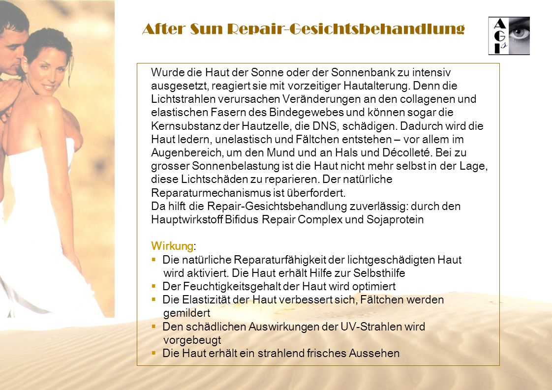 After Sun Repair-Gesichtsbehandlung