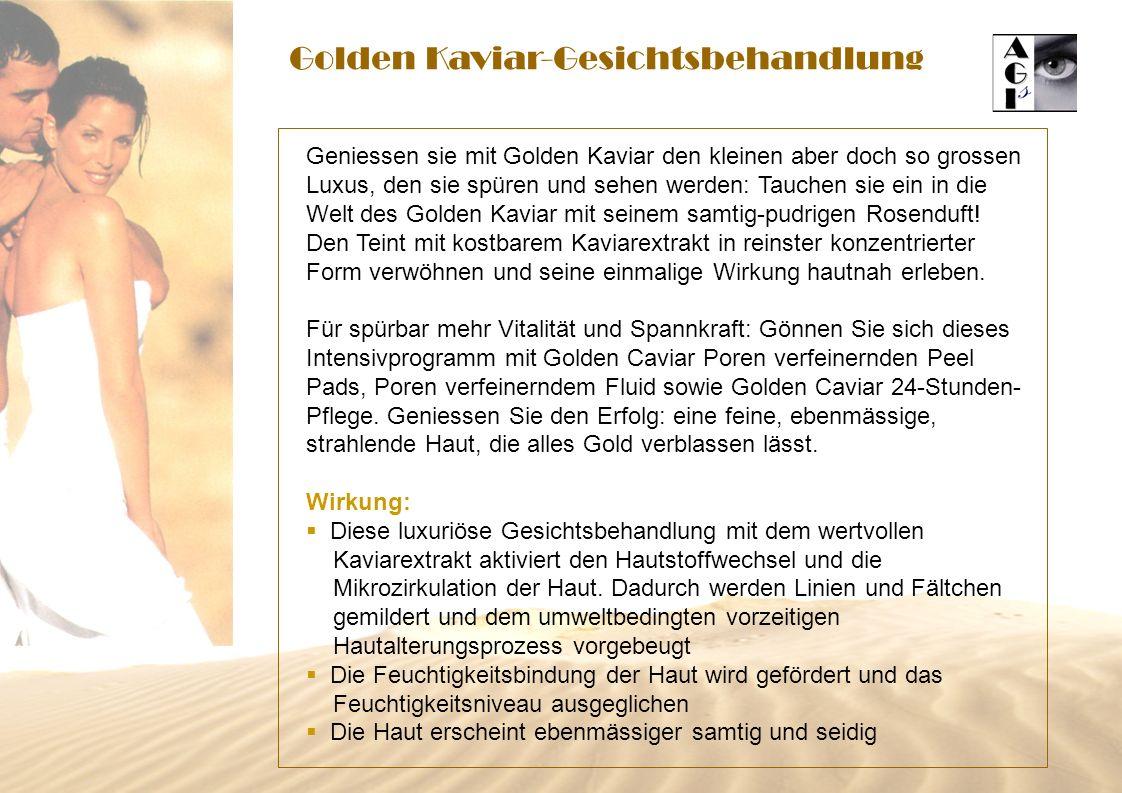 Golden Kaviar-Gesichtsbehandlung