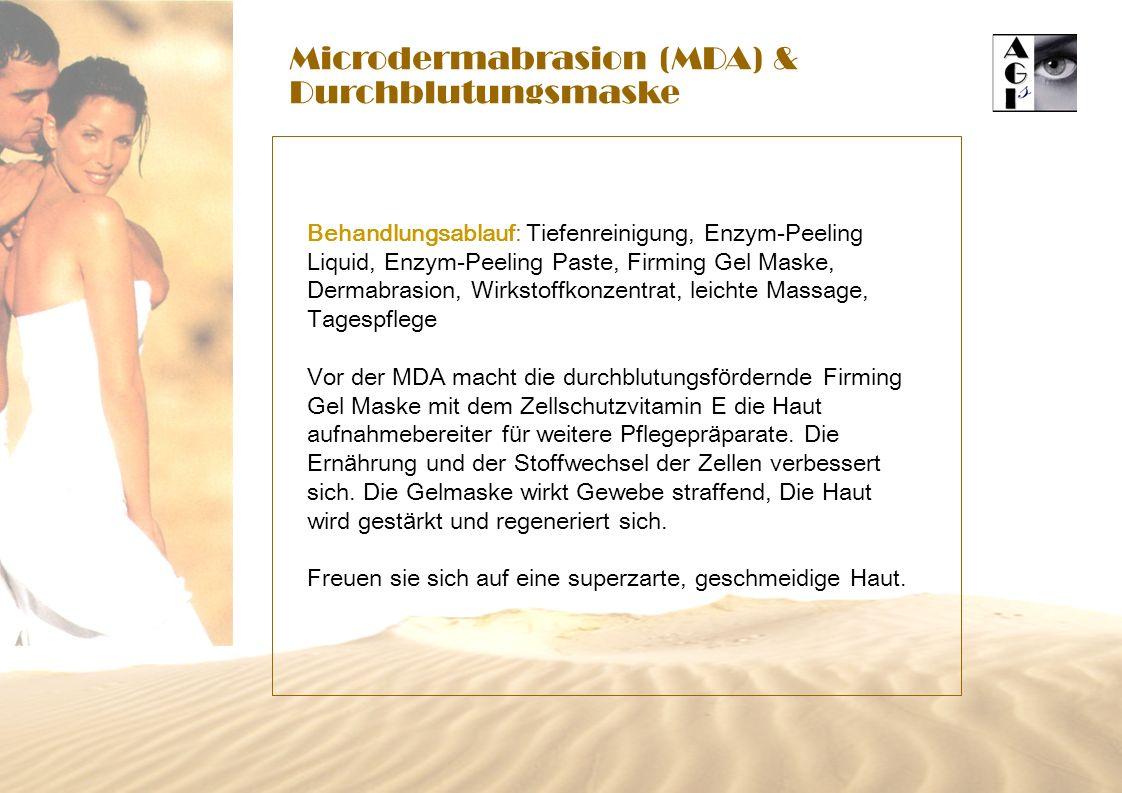 Microdermabrasion (MDA) & Durchblutungsmaske