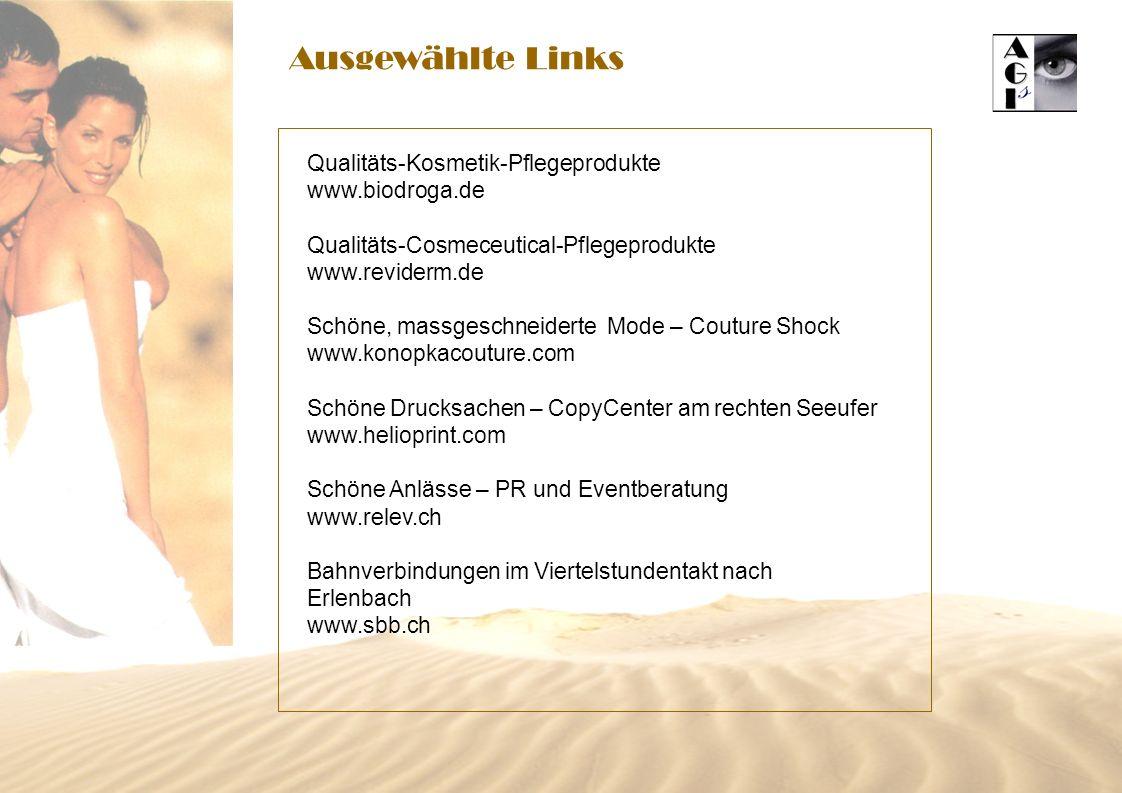Ausgewählte Links Qualitäts-Kosmetik-Pflegeprodukte www.biodroga.de