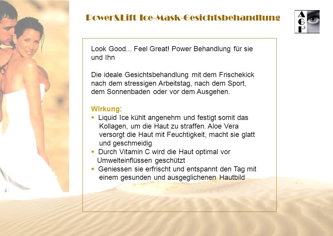 Power&Lift Ice-Mask-Gesichtsbehandlung