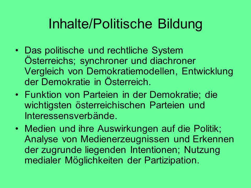 Inhalte/Politische Bildung