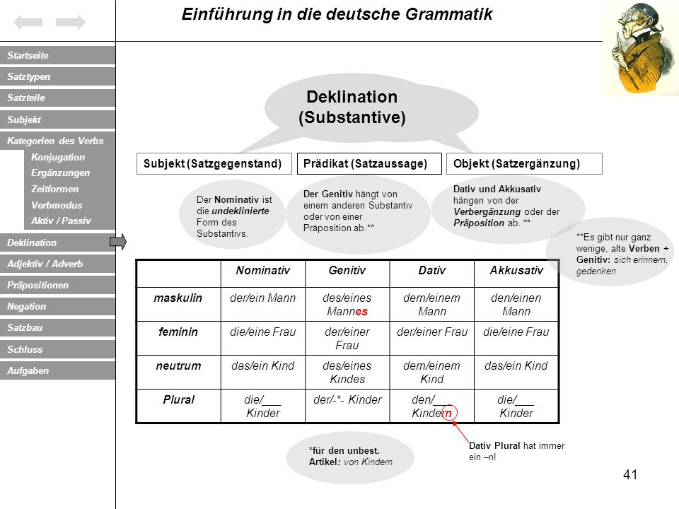 Deklination (Substantive)