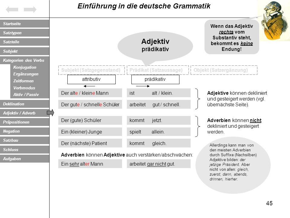 Wenn das Adjektiv rechts vom Substantiv steht, bekommt es keine Endung!