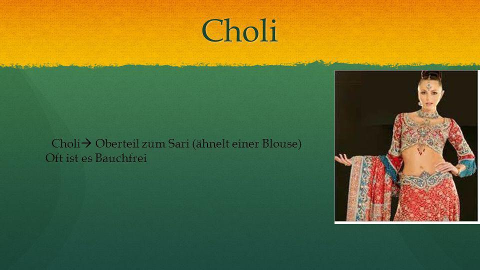 Choli Choli Oberteil zum Sari (ähnelt einer Blouse)