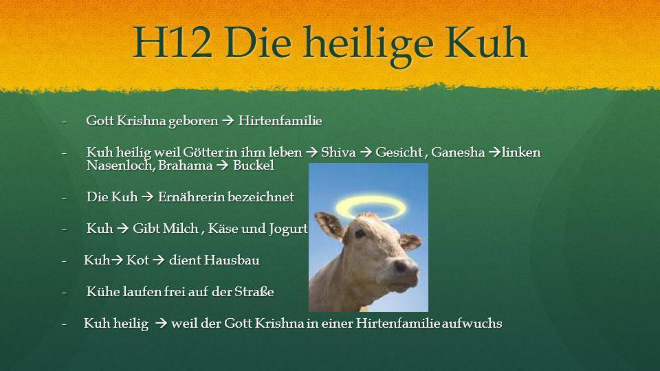 H12 Die heilige Kuh Gott Krishna geboren  Hirtenfamilie