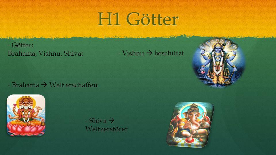 H1 Götter - Götter: Brahama, Vishnu, Shiva: - Vishnu  beschützt