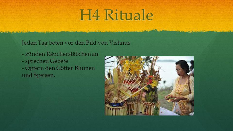 H4 Rituale Jeden Tag beten vor den Bild von Vishnus