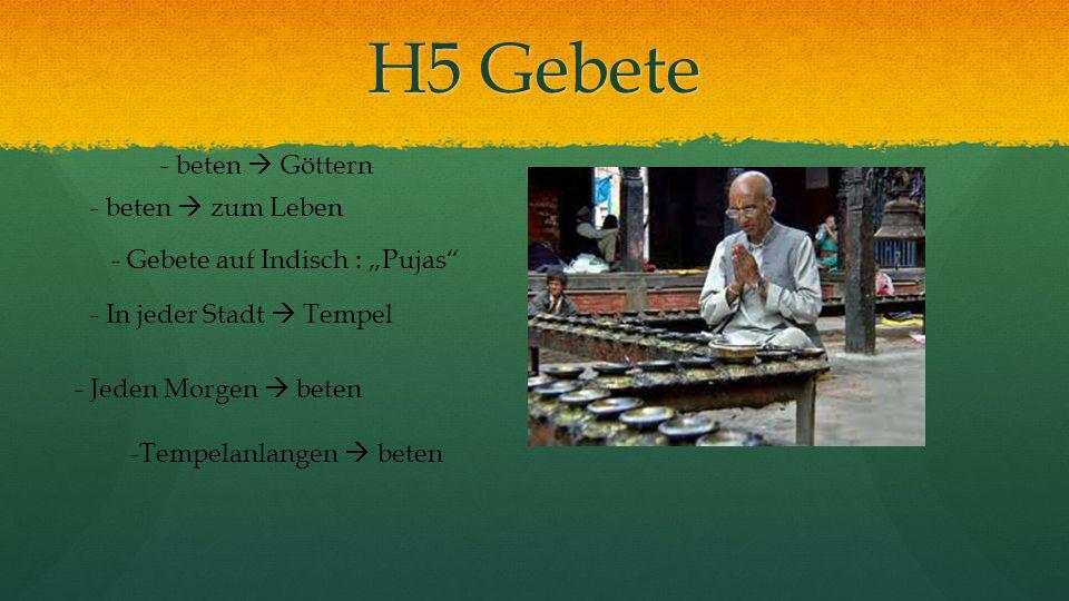 H5 Gebete - beten  Göttern - beten  zum Leben