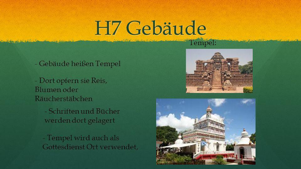 H7 Gebäude Tempel: - Gebäude heißen Tempel