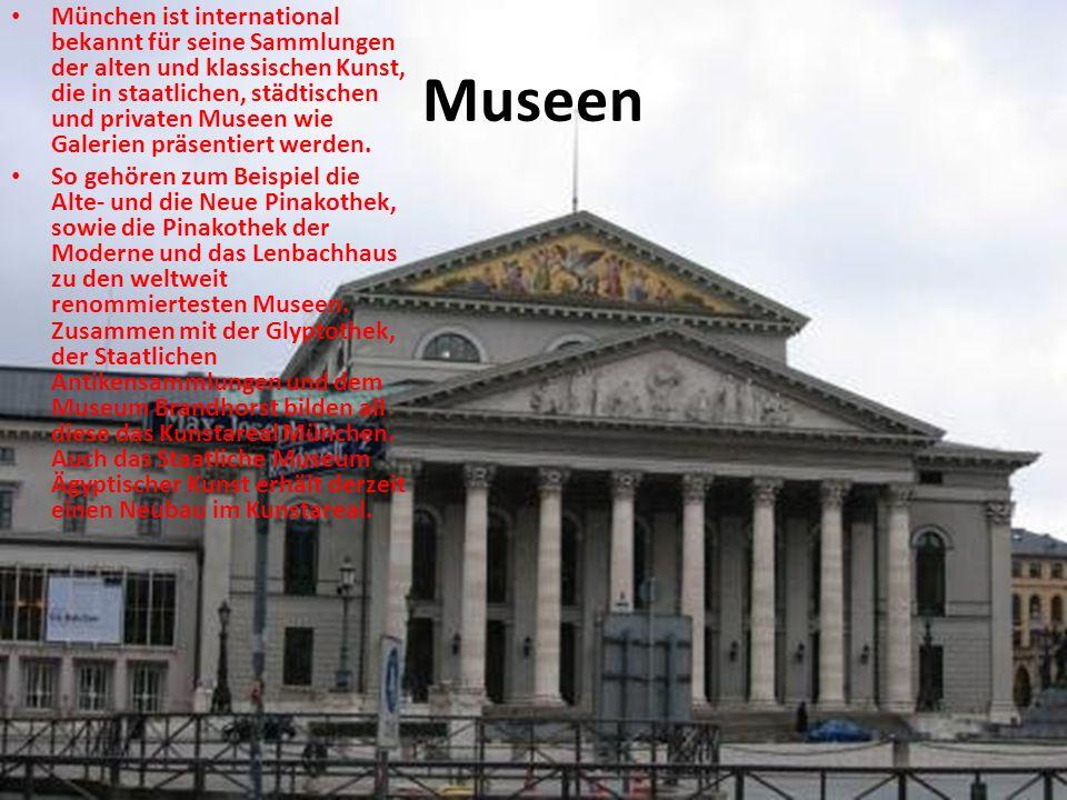München ist international bekannt für seine Sammlungen der alten und klassischen Kunst, die in staatlichen, städtischen und privaten Museen wie Galerien präsentiert werden.