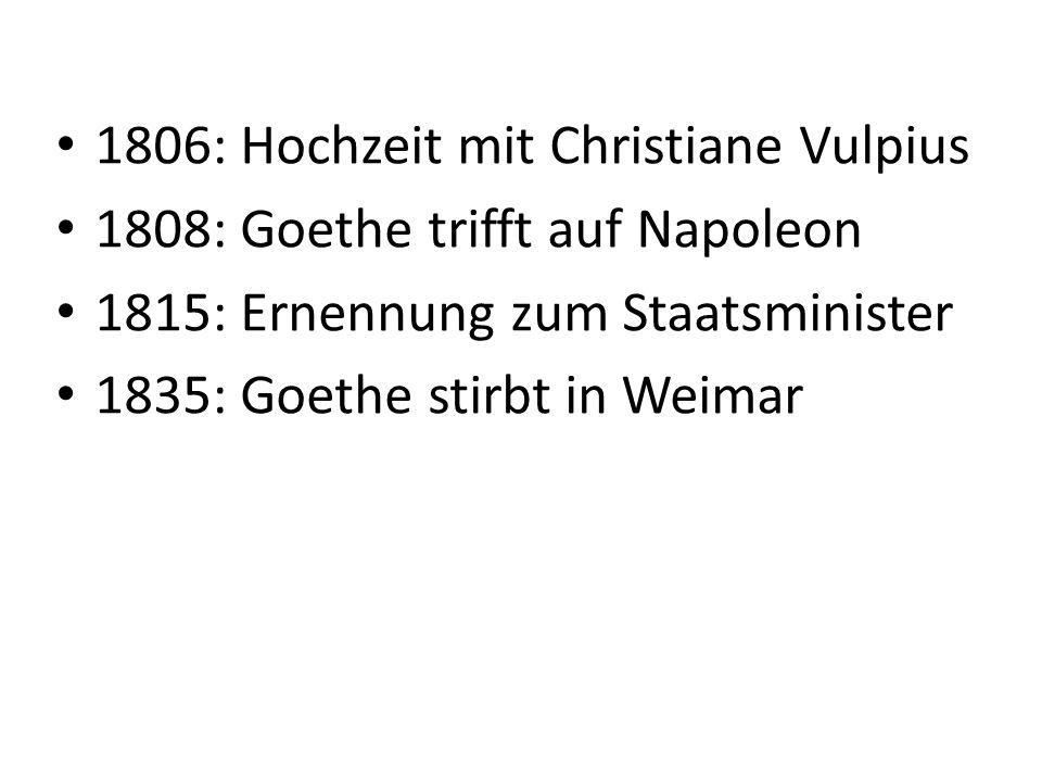 1806: Hochzeit mit Christiane Vulpius