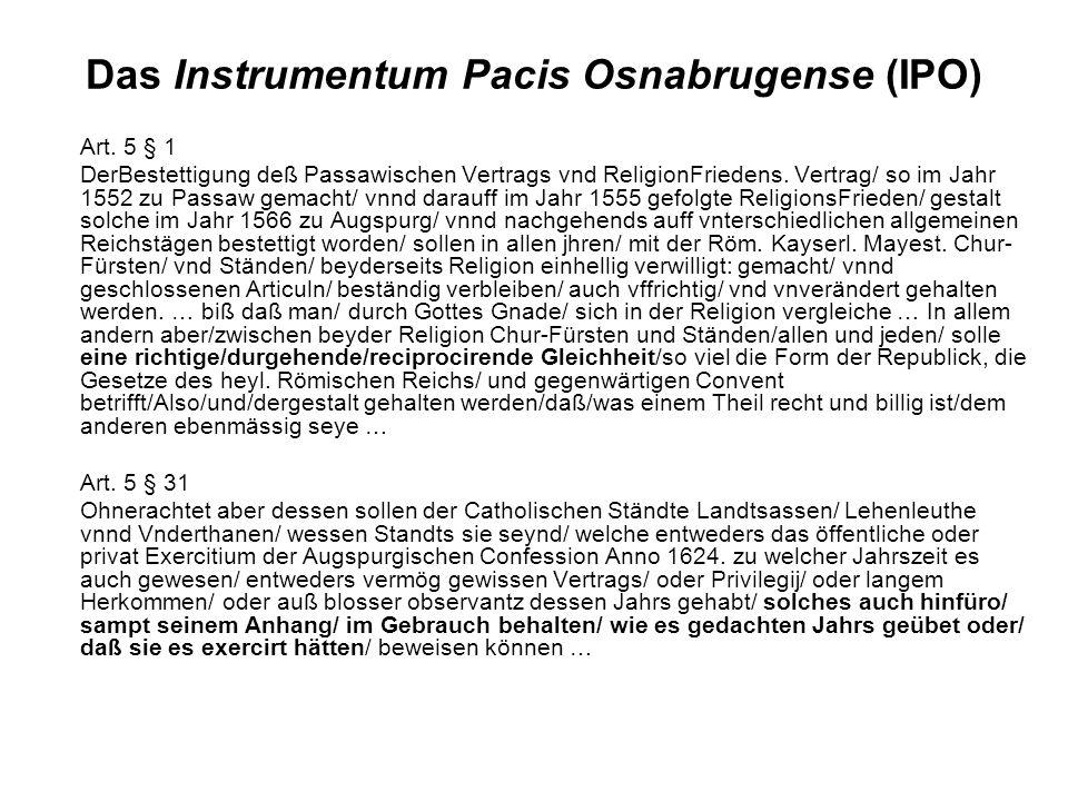 Das Instrumentum Pacis Osnabrugense (IPO)