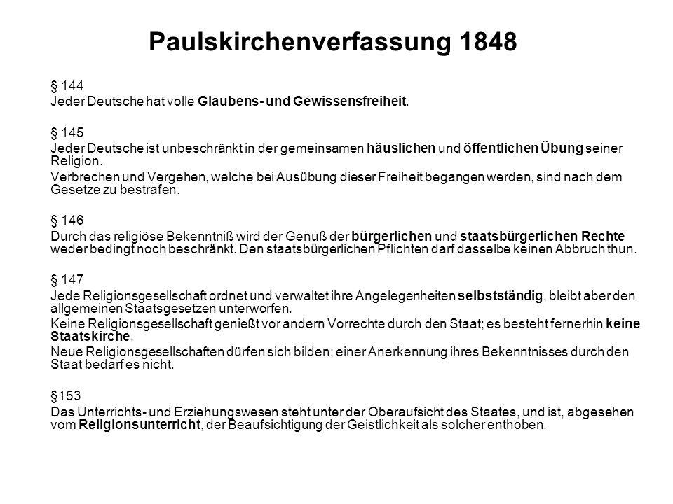 Paulskirchenverfassung 1848
