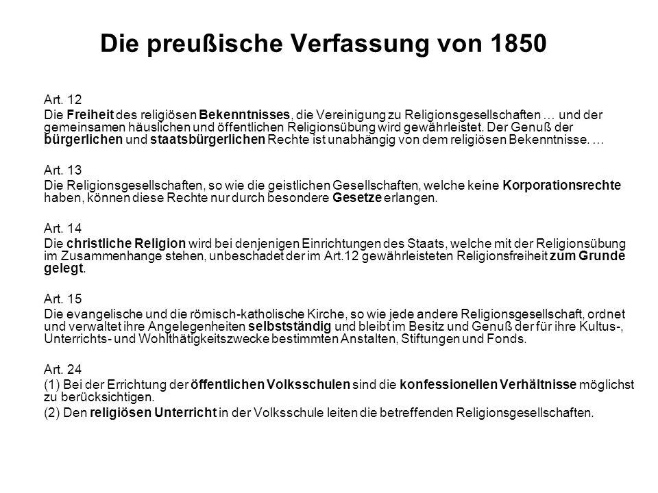 Die preußische Verfassung von 1850