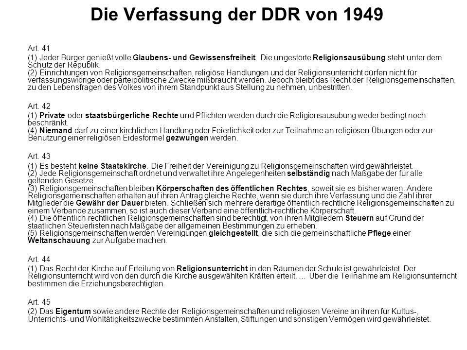 Die Verfassung der DDR von 1949