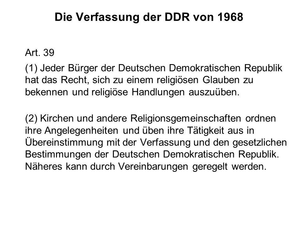 Die Verfassung der DDR von 1968