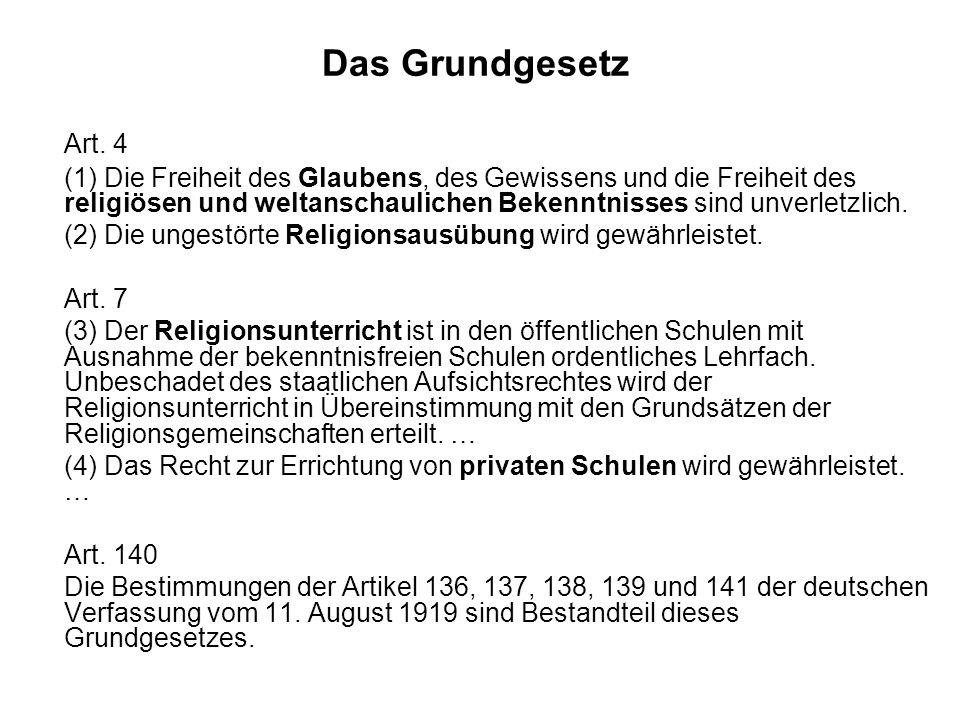 Das Grundgesetz Art. 4.
