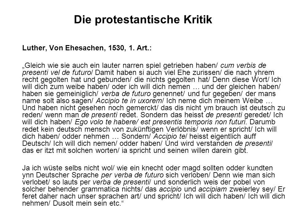 Die protestantische Kritik