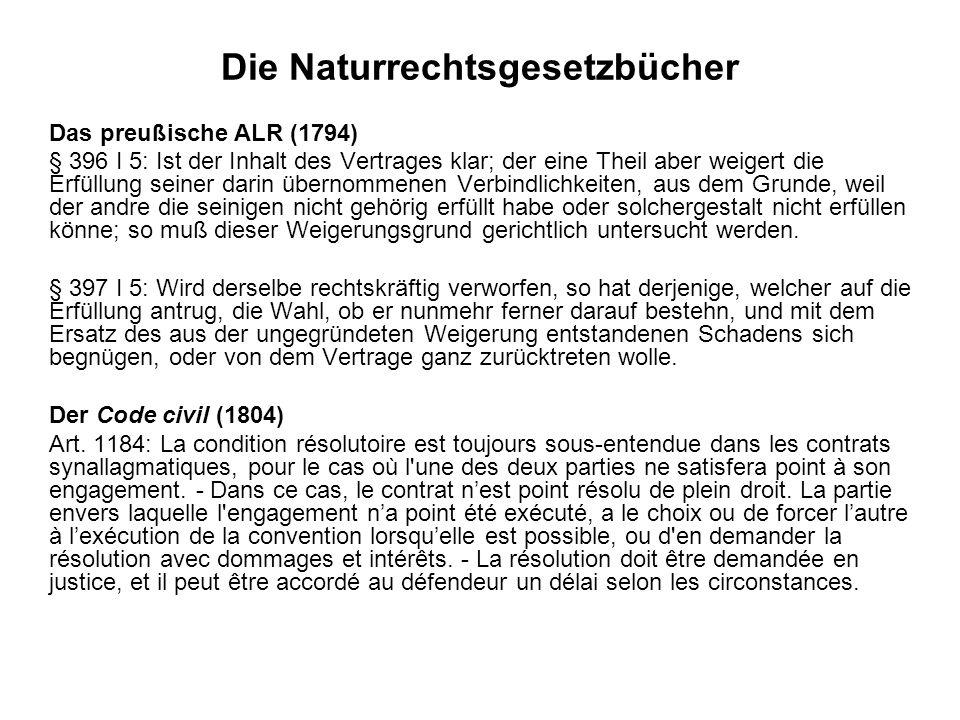 Die Naturrechtsgesetzbücher