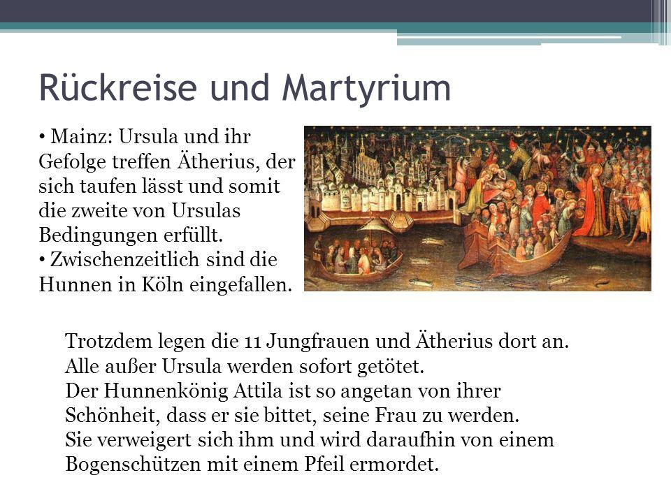 Rückreise und Martyrium