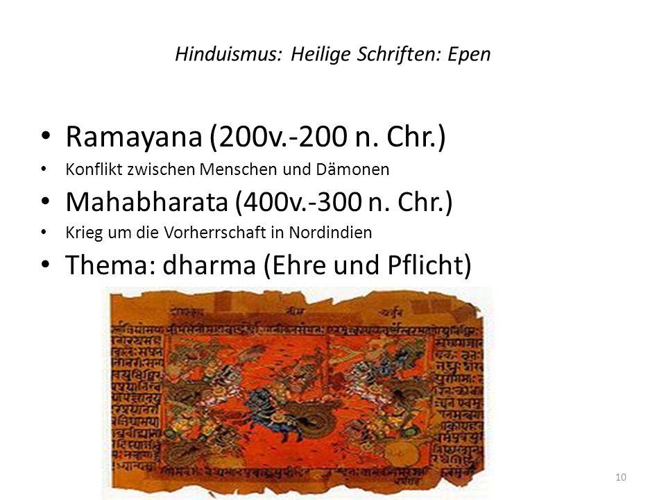 Hinduismus: Heilige Schriften: Epen