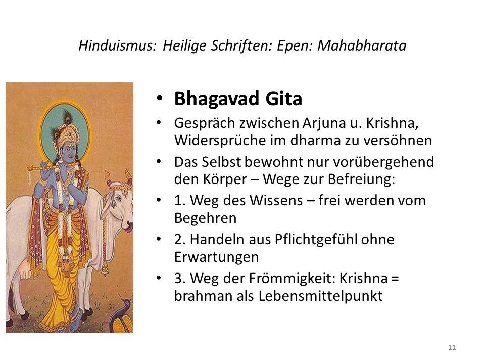 Hinduismus: Heilige Schriften: Epen: Mahabharata