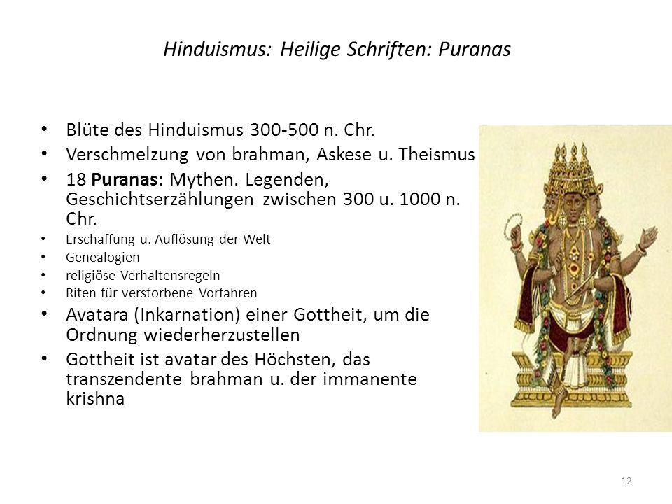 Hinduismus: Heilige Schriften: Puranas