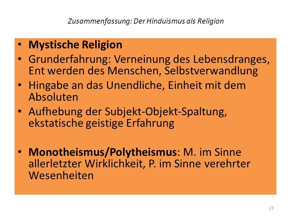 Zusammenfassung: Der Hinduismus als Religion