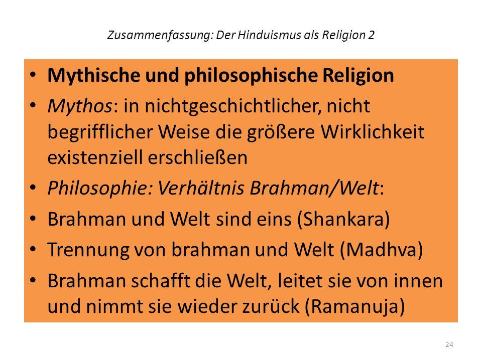 Zusammenfassung: Der Hinduismus als Religion 2
