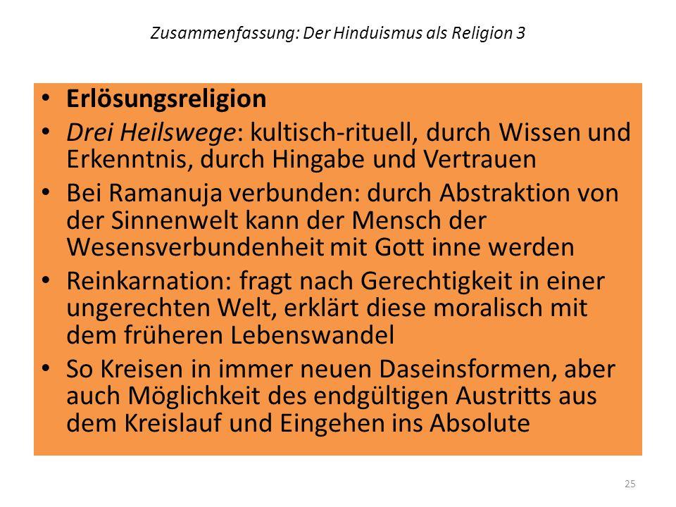 Zusammenfassung: Der Hinduismus als Religion 3