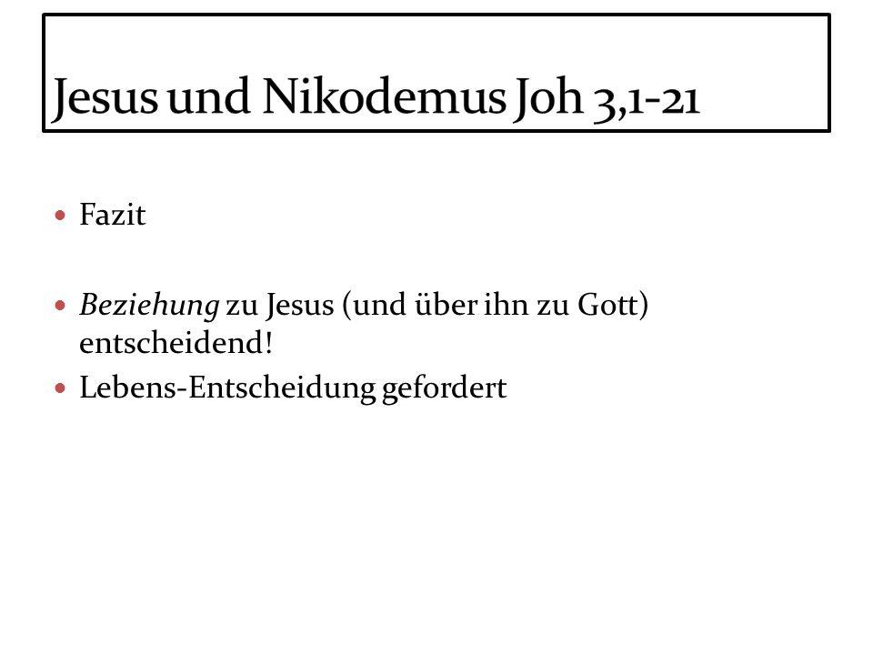 Jesus und Nikodemus Joh 3,1-21