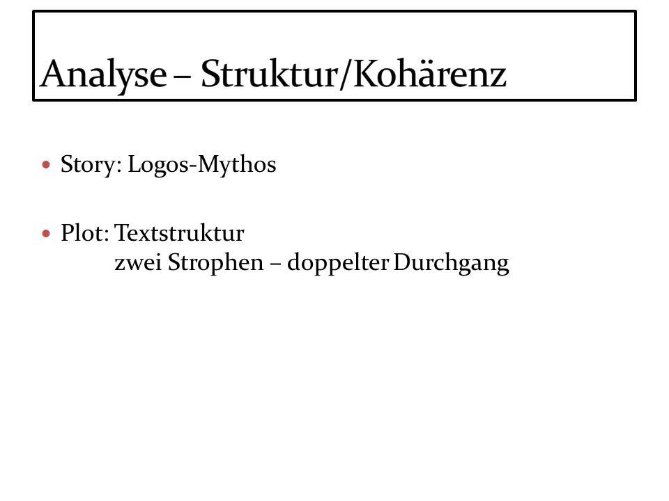 Analyse – Struktur/Kohärenz