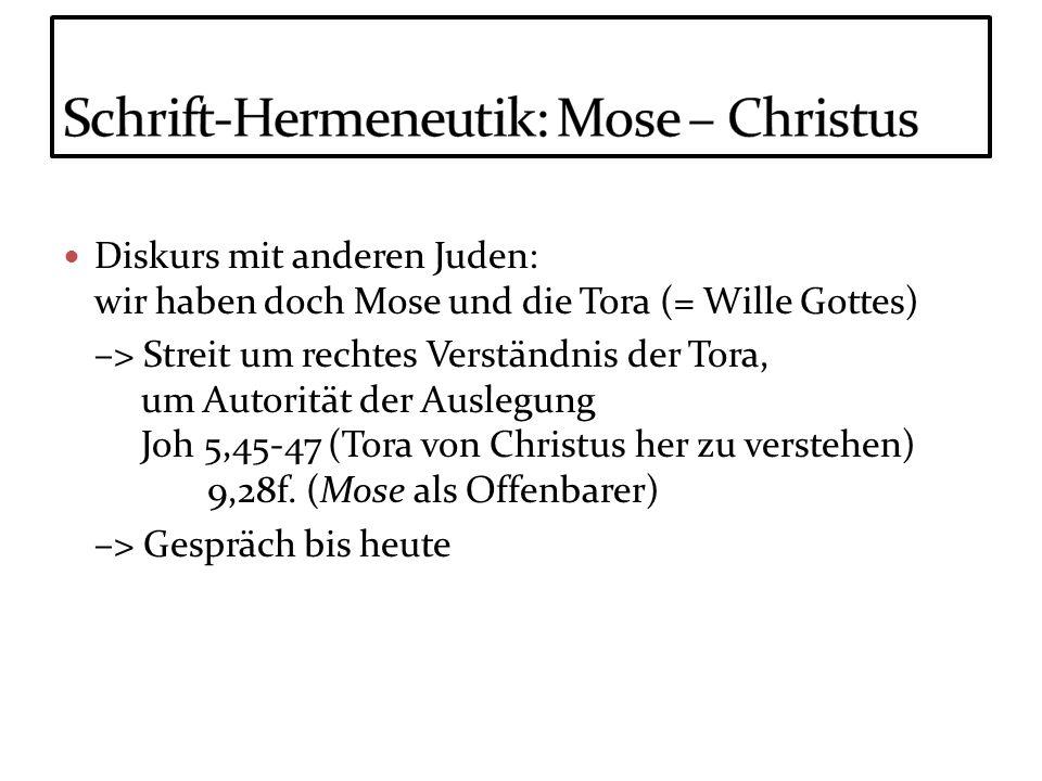 Schrift-Hermeneutik: Mose – Christus