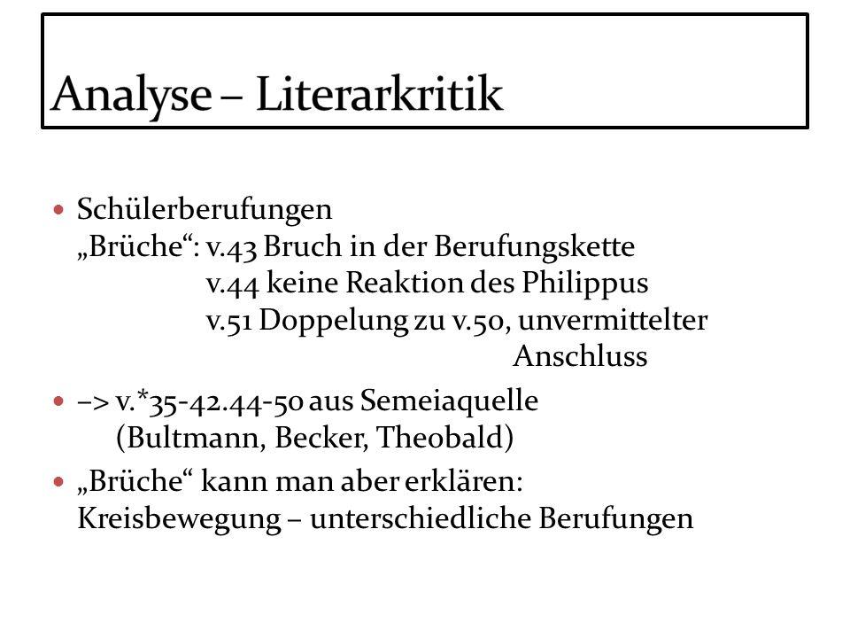 Analyse – Literarkritik