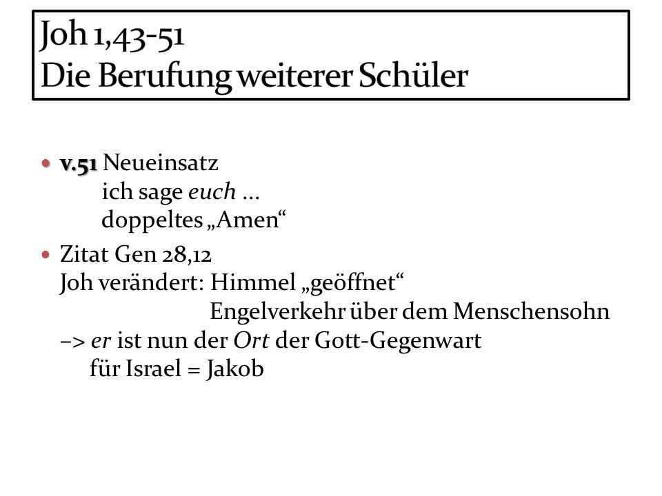 Joh 1,43-51 Die Berufung weiterer Schüler