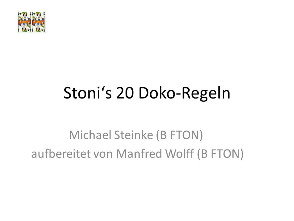 Michael Steinke (B FTON) aufbereitet von Manfred Wolff (B FTON)