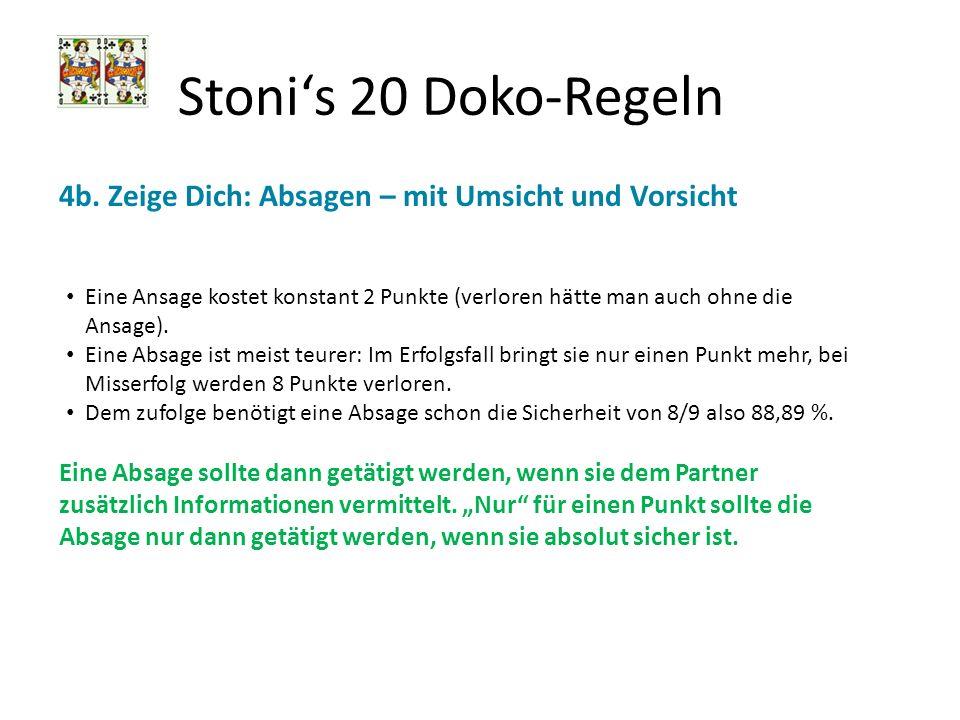 Stoni's 20 Doko-Regeln 4b. Zeige Dich: Absagen – mit Umsicht und Vorsicht.