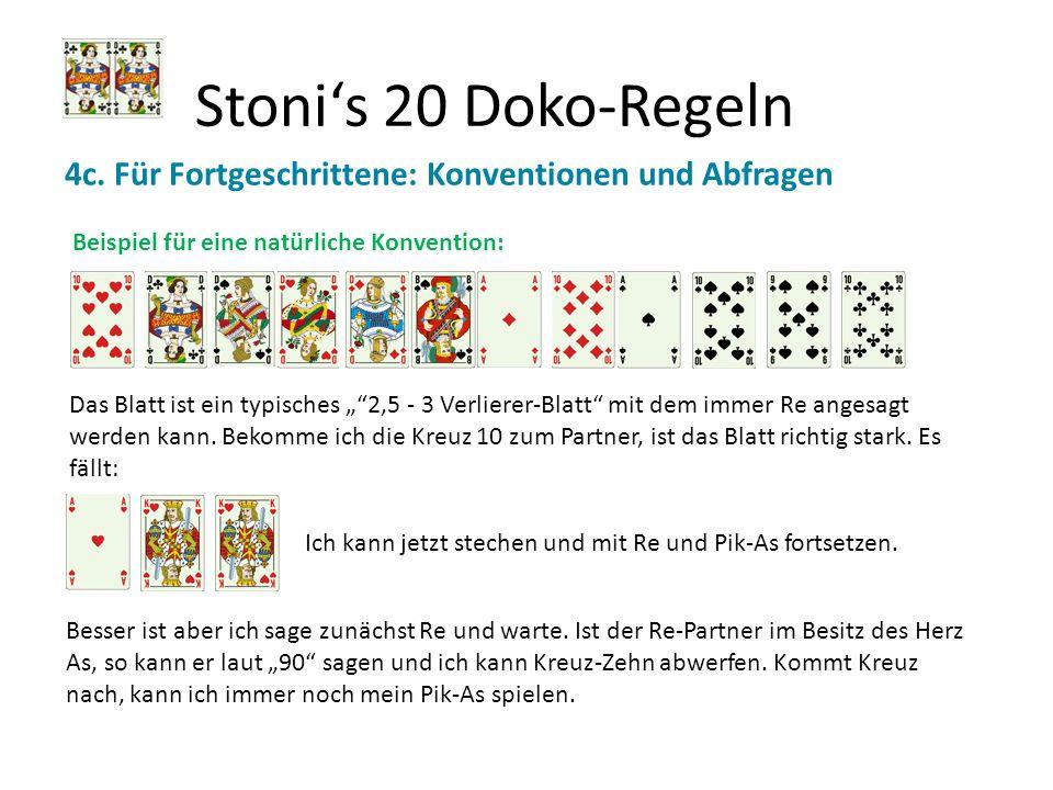 Stoni's 20 Doko-Regeln 4c. Für Fortgeschrittene: Konventionen und Abfragen. Beispiel für eine natürliche Konvention: