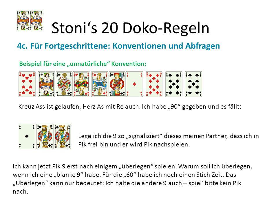 """Stoni's 20 Doko-Regeln 4c. Für Fortgeschrittene: Konventionen und Abfragen. Beispiel für eine """"unnatürliche Konvention:"""