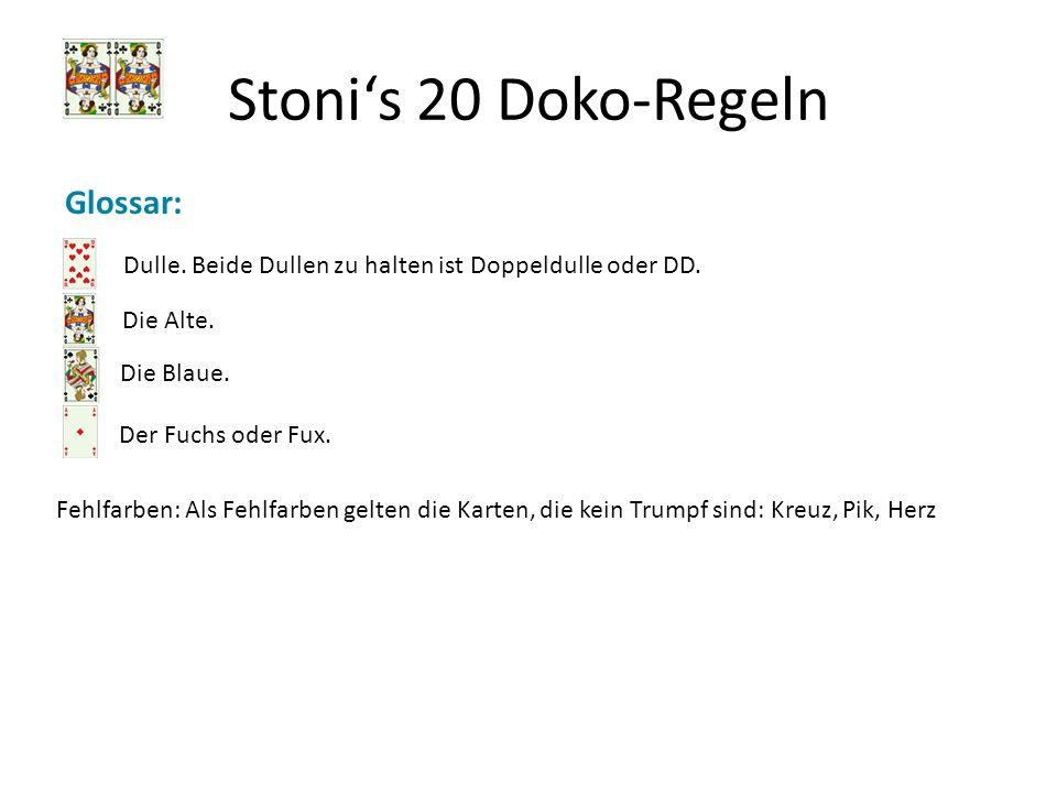 Stoni's 20 Doko-Regeln Glossar: