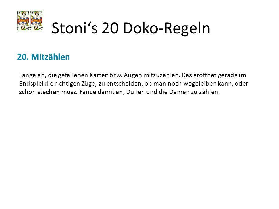 Stoni's 20 Doko-Regeln 20. Mitzählen