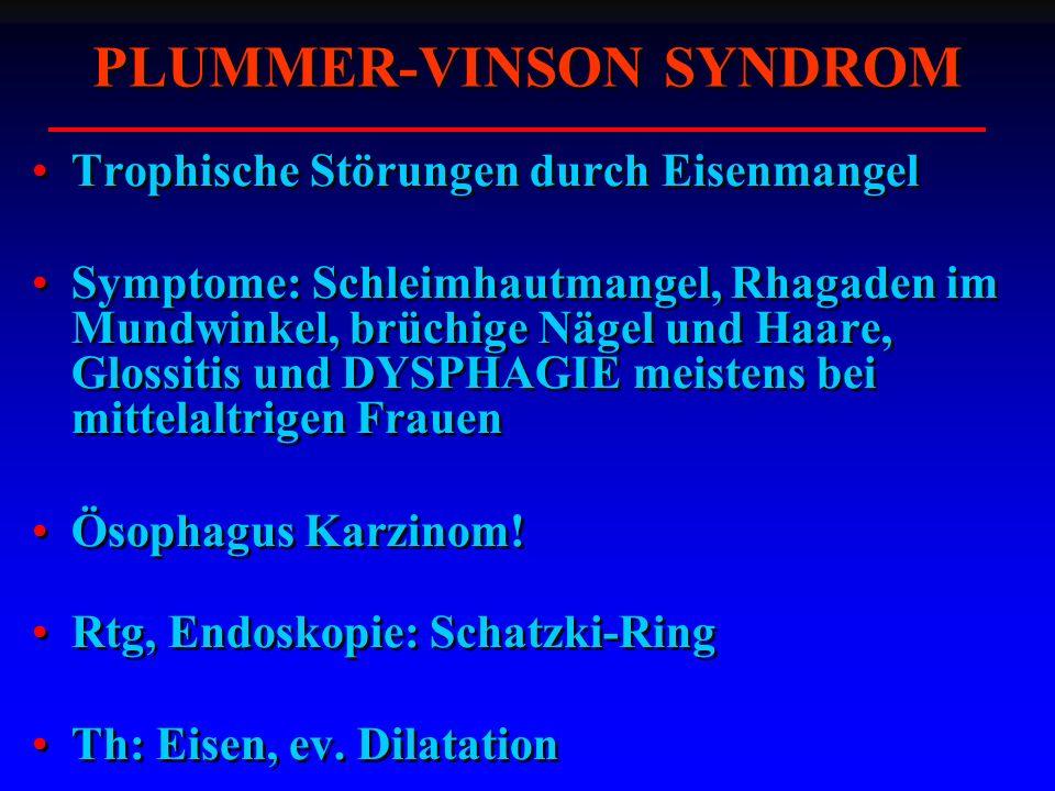 PLUMMER-VINSON SYNDROM