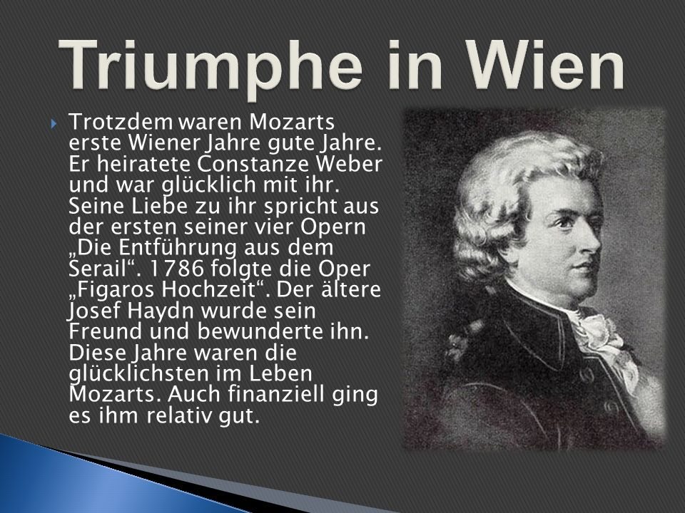 Triumphe in Wien