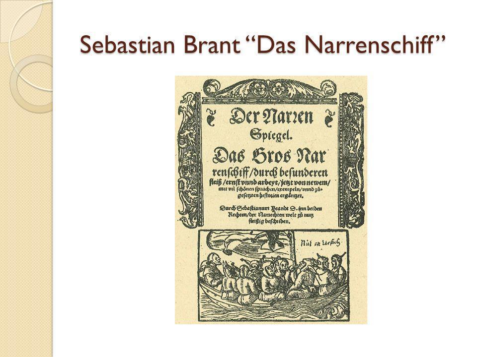 Sebastian Brant Das Narrenschiff